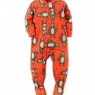 CARTER'S Boy's 3T, 4T OR 5T FISHING BEAR Fleece Footed Pajama Sleeper