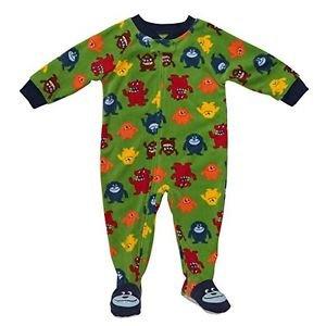 CARTER'S SUPER-COMFY Toddler Boy's 3T Fleece Monster Footed Pajama Sleeper