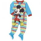 Disney Mickey Mouse Footed Pajama Blanket Sleeper Baby Boys' 24 Months Blue