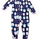 Carter's Child Of Mine Girl's 3T Winter Penguin Fleece Footed Pajama Sleeper