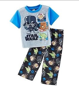 STAR WARS Kid Characters Boy's 3T OR 4T VADER, YODA, CHEWBACCA Pajama Set