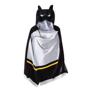 BATMAN Children's Hooded Terry Cloth Towel Bath Wrap