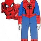 THE AMAZING SPIDERMAN SPIDER-MAN Boy's Size 8 Hooded Fleece Pajama Sleeper, PJ