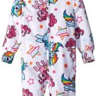 MY LITTLE PONY Girl's 4, 6, 8 OR 10 Fleece Hooded Pajama Sleeper, Rainbow Dash