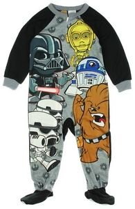 STAR WARS Boy's 3T, 4T OR 5T Character Fleece Footed Pajama Blanket Sleeper