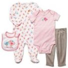 CARTER'S Baby Girl's 3 Months I LOVE AUNTIE 4-Piece Layette Set, Sleeper, Ouftit