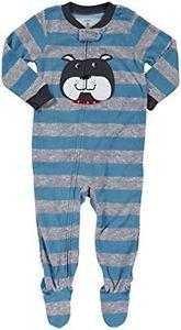 CARTER'S Boy's Size 3T BULLDOG, DOG Fleece Footed Pajama Sleeper