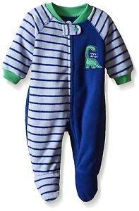 Toddler Boy's 3T Mommy's Big Guy Dinosaur Fleece Footed Pajama Sleeper