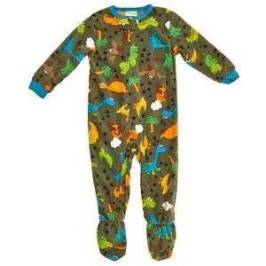 PEAS AND CARROTS Boy's 3T OR 4T Fleece Footed Dinosaur Dino Pajama PJ Sleeper