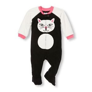 Toddler Girl's 3T, 4T OR 5T Kitty Cat Fleece Footed Blanket Pajama Sleeper