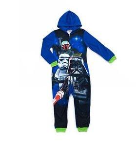 LEGO STAR WARS Boy's  6/7, 8 OR 10/12 Fleece Hooded Blanket Pajama Sleeper
