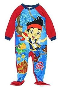 DISNEY JAKE Boy's 3T, 4T OR 5T Fleece Footed Character Pajama Blanket Sleeper