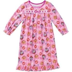 Disney Size 5T Paw Patrol Skye, Marshall, Pup Heroes Pink Flannel Nightgown