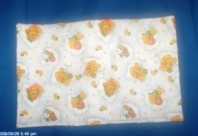 TRAVEL SIZE PILLOWCASE NEW HANDCRAFTED TEDDY BEARS AND TOYS