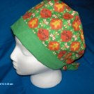 MEDICAL SURGICAL SCRUB CAP HAT PIXIE TIE-BACK  CHRISTMAS JOY