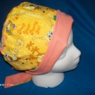 Surgical Scrub Hat Cap PIXIE EASY FIT SPONGE BOB and PATRICK LADIES