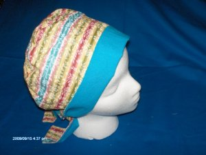 PIXIE EASY FIT SURGICAL SCRUB CAP HAT PASTEL STRIPES