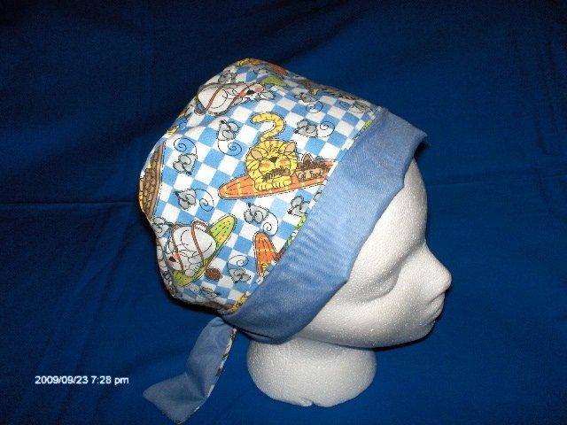 Surgical Scrubs Caps  Hats For Women Pixie Cap Ladies  SLEEPING KITTIES