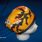 SURGICAL,MEDICAL,DOCTOR, SCRUB HAT/CAP SEASONAL HALLOWEEN CAMOFLAUGE GHOST ORANGE