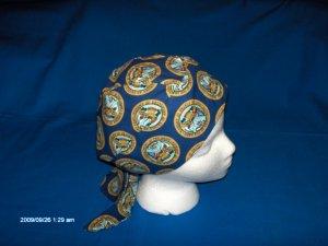 Skull Cap Bandana Do Rag Headwrap U.S.A. ARMY