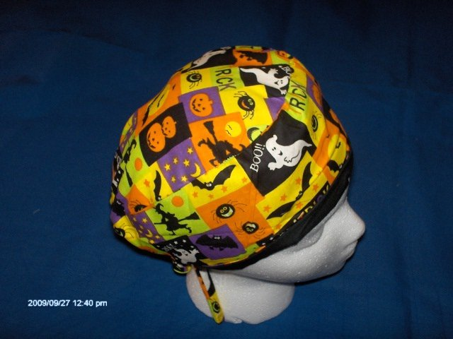 SURGICAL MEDICAL DOCTOR SCRUB HAT CAP HALLOWEEN