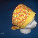 PIXIE EASY FIT SURGICAL SCRUB CAP HAT BIG COLORFUL PANSIES