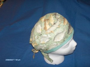 SURGICAL MEDICAL DOCTOR  SCRUB HAT CAP LOTS OF FISH