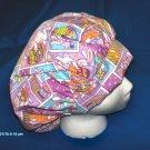 Ladies Surgical Medical Scrub Hat Cap EASTER Banded  Bouffant LAVENDER