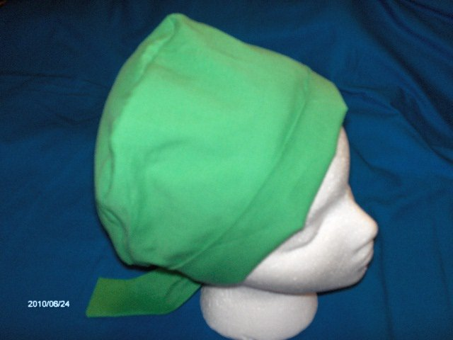 Ladies Professional Hospital Caps Surgery Hats Solid Kelly Green