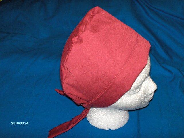 Calicomaisey's designer  pixie scrub caps for ladies  Solid Cranberry
