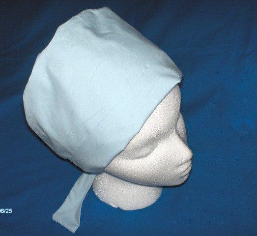 Surgical Uniforms  Scrub Cap Pixie Bonnets Women's Ladies Light Blue