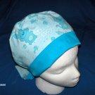 Nursery Scrub Cap Ladies  Pixie Tie-Back Hat IT'S A BOY