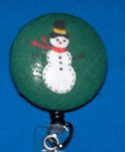 Snowman No Twist Retractable Badge Reel  Badge Holder Rated For 100,000 Pulls