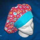 Ladies Nurses Banded Bouffants Scrubs Scrub Cap Hospital Hats Bright Pink