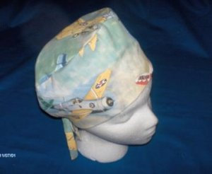 Mens Quality Unisex Scrub Hats for You Medical Caps VINTAGE AIRPLANES