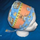 Handcrafted Surgical Scrub Cap Pixie Bonnets Women's Ladies CATS AND MICE