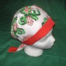 Ladies Women affordable medical surgical scrubs caps Christmas PEPPERMINT CANDY CANES