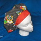 Ladies Surgical Scrub Hat Cap Banded Bouffant HERE COME THE CLOWNS