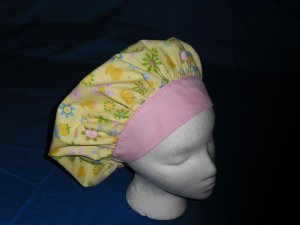 Ladies Nurses Scrubs Hat  EASTER Banded Bouffant Scrub Cap Hats