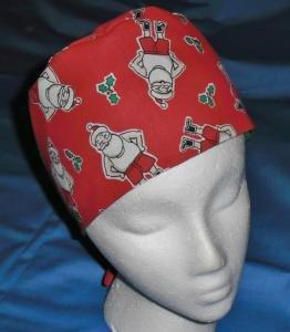 Mens Christmas Quality Unisex Scrub Hats for You Medical Caps SANTA'S SKIVVIES