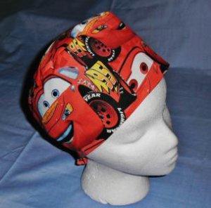Mens Doctors Scrub Techs Quality Unisex Scrub Hats Medical Caps CARS RED