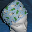Mens Doctors Scrub Techs Quality Unisex Scrub Hats Medical Caps LITTLE SNOWMEN