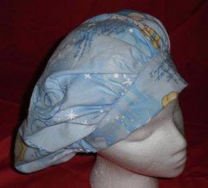 Scrubs Scrub Cap Fabric Nurses Surgical Medical Banded Bouffant Hats CINDERELLA
