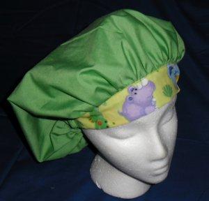 Ladies Scrubs Banded Bouffant Scrub Cap Hat Surgery Medical Caps GREEN