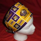 Women Ladies Nurses Affordable Surgical Medical Scrub Caps Fabric LSU TIGERS