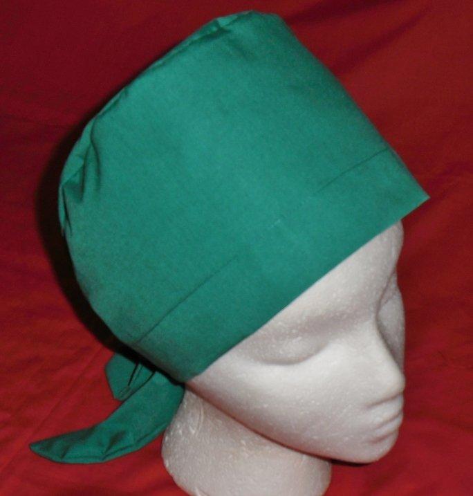 Ladies Nurses Scrubs Scrub Caps Hats Pixie Cap Surgery Scrub Hat SOLID EMERALD GREEN