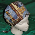 Blue Lighthouses Nursing Hats Pixie Cancer Recovery Hats Surgical Medical Scrubs Scrub Hat Cap