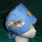 Pediatric Nurses Scrubs Cute Comfy Hats Pixie Scrub Caps Surgical Cap Medical Hats MOTHER GOOSE BLUE
