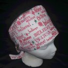 Ladies Nurses Womens Handcrafted Pixie Scrub Cap Surgical Medical Hat Hats BELIEVE