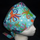 Ladies Nurses Womens Handcrafted Pixie Scrub Cap Surgical Medical Hat Hats UNDER THE SEA